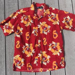 Boys Patagonia Button Front Hawaiian Guitar Shirt